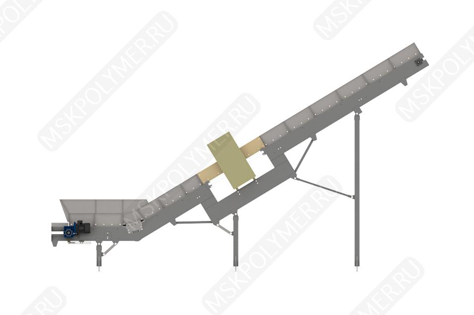 Ленточный транспортер + магнитная рамка