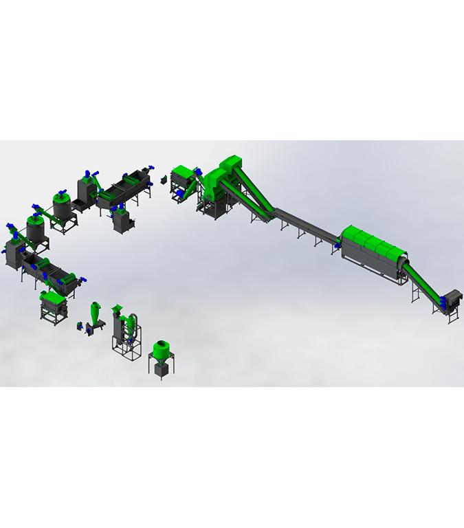 Линия по переработке ПЭТ 500-1000 кг/ч