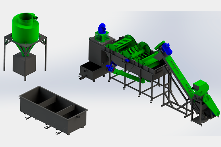 Линия по переработке канистры 150-200 кг/ч