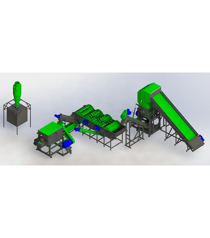 Линия по переработке канистры 300-500 кг/ч