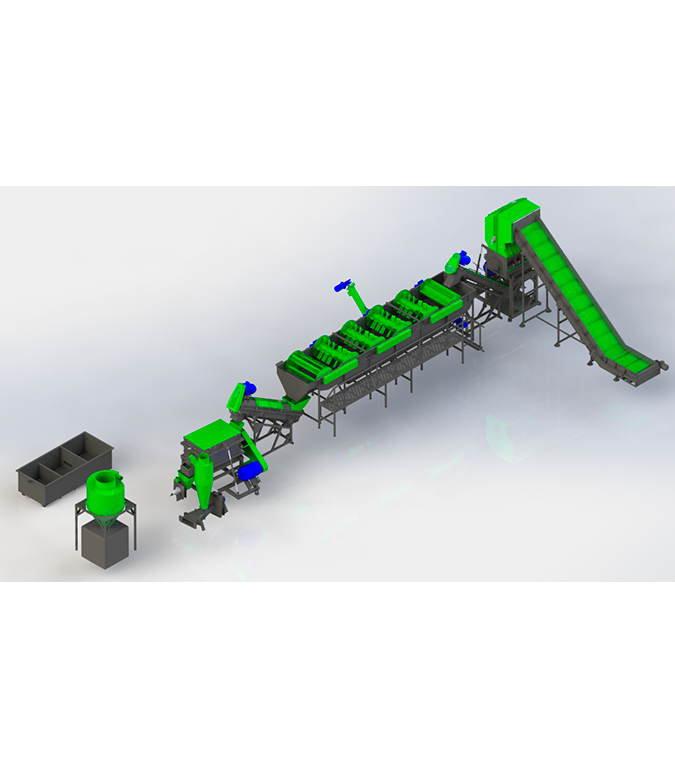 Линия по переработке канистры 500-1000 кг/ч