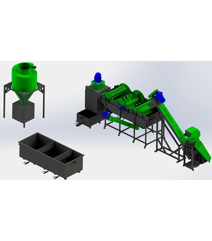 Линия по переработке плёнки 150-200 кг/ч