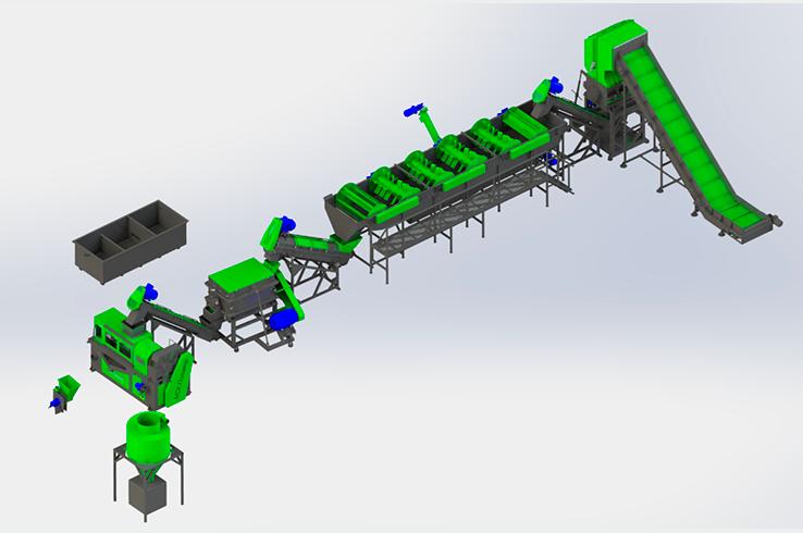 Линия по переработке плёнки 300-500 кг/ч