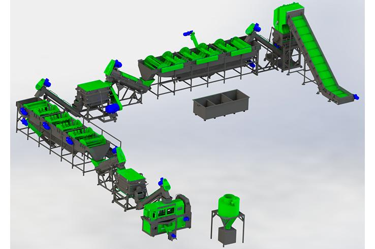 Линия по переработке плёнки 500-1000 кг/ч